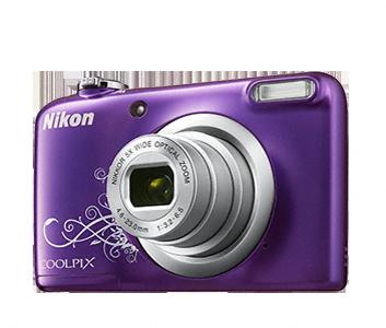 Nikon Coolpix A10 fialový, 16,1M, 5xOZ, HD Video