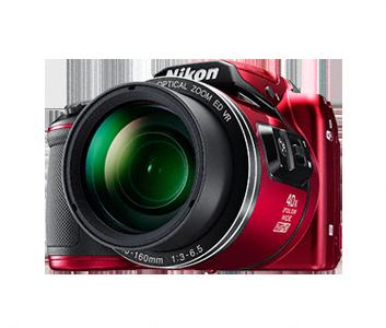 Nikon Coolpix B500 červený,16M,40xOZ,Full HD Video