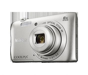 Nikon Coolpix A300 stříbrný,20,1M, 8xOZ, HD Video