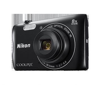 Nikon Coolpix A300 černý,20,1M, 8xOZ, HD Video