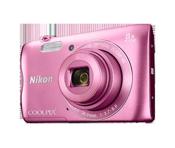 Nikon Coolpix A300 růžový,20,1M, 8xOZ, HD Video