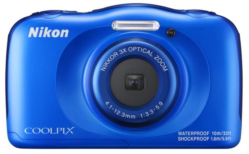 Nikon Coolpix W100 modrý, 13,2MPx,3xOZ,FHD Video