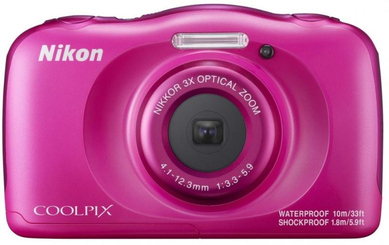 Nikon Coolpix W100 růžový, 13,2MPx,3xOZ,FHD Video
