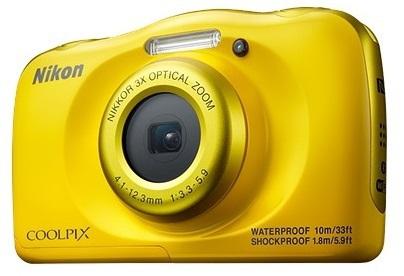 Nikon Coolpix W100 žlutý, 13,2MPx,3xOZ,FHD Video