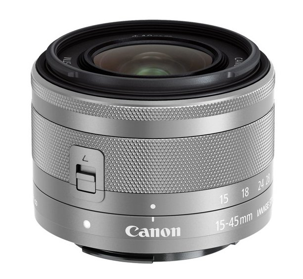 Canon objektiv EF-M 15-45mm f/3.5-6.3 IS STM stříb