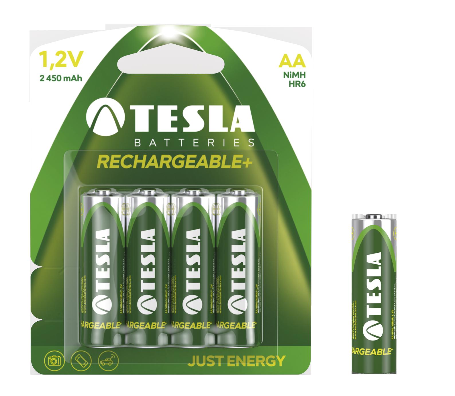 TESLA - baterie AA RECHARGEABLE+, 4ks, HR6 - 1099137124