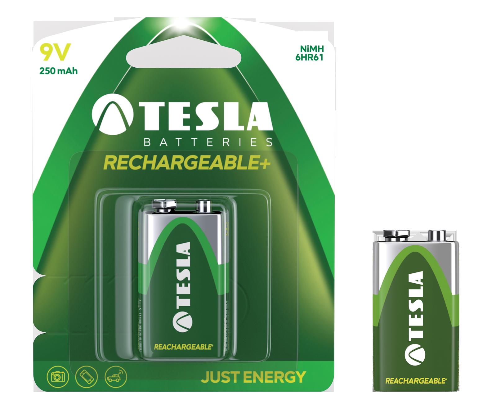TESLA - baterie 9V RECHARGEABLE+ , 1ks, 6HR61 - 1099137130