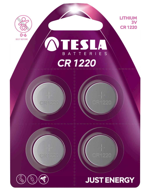 TESLA - baterie TESLA CR1220, 4ks, CR1220 - 1099137152