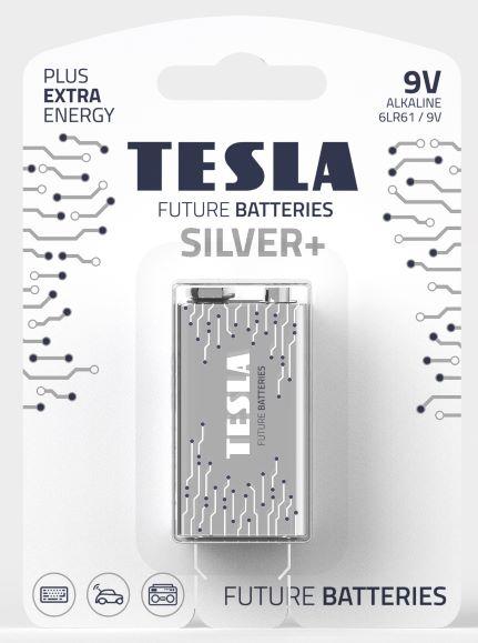 TESLA - baterie 9V SILVER+, 1 ks, 6LR61 - 1099137211