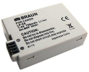 Braun akumulátor CANON LP-E8, 750mAh - 59381
