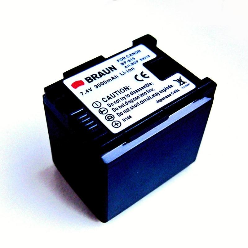 Braun akumulátor CANON BP-819 EC, 3000mAh