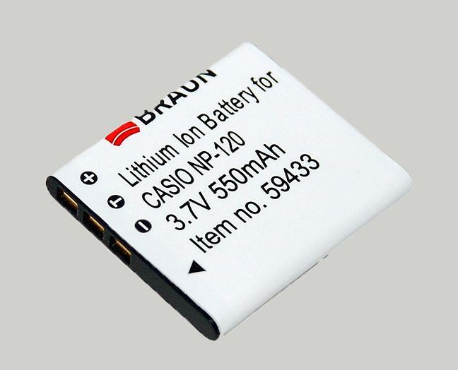 Braun akumulátor CASIO NP-120, 550mAh - 59433