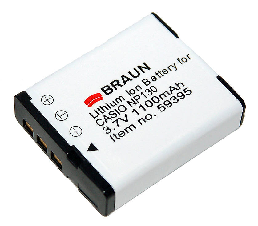 Braun akumulátor CASIO NP-130, 1100mAh - 59395