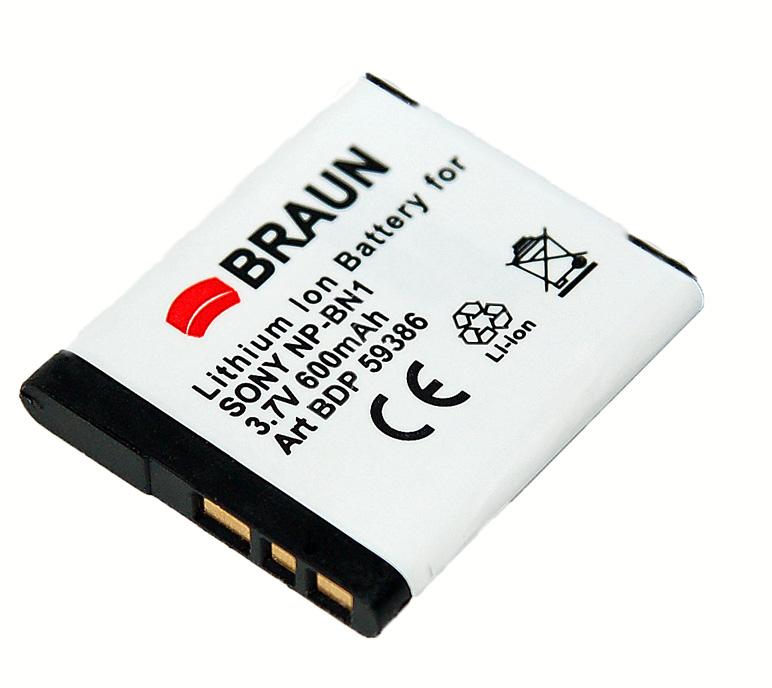 BRAUN akumulátor - SONY NP-BN1