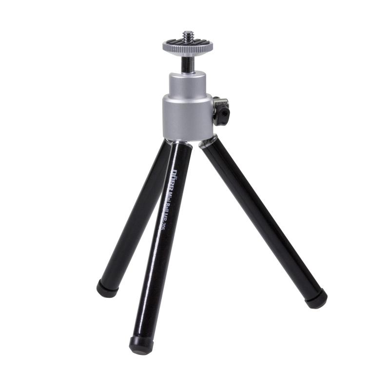 Doerr MB-205 ministativ (15-20,5 cm, 90 g, max.1kg, kulová hlava, černý) - 380407