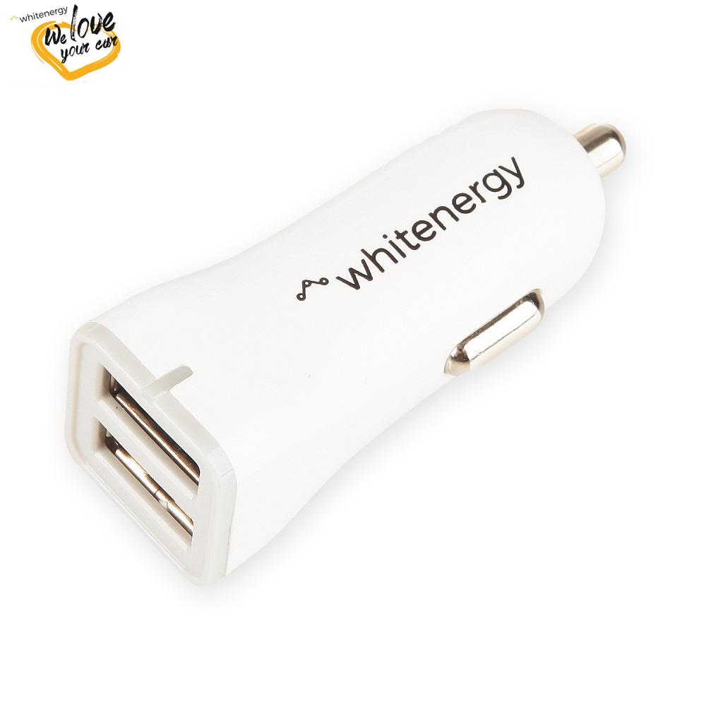 WE auto adaptér 2x USB 5V 2400mA Blister White - 10424
