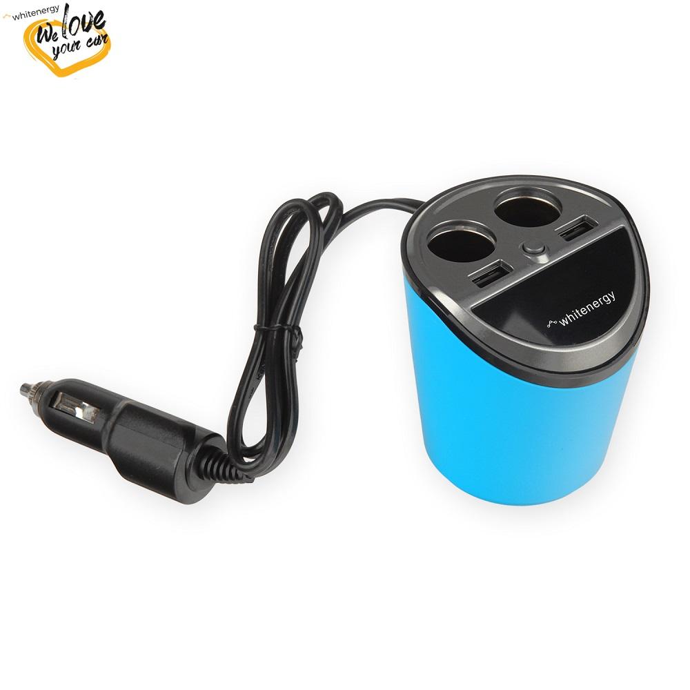WE auto adaptér CUP 2x USB, 2x CS 5V 9.6A - 10420