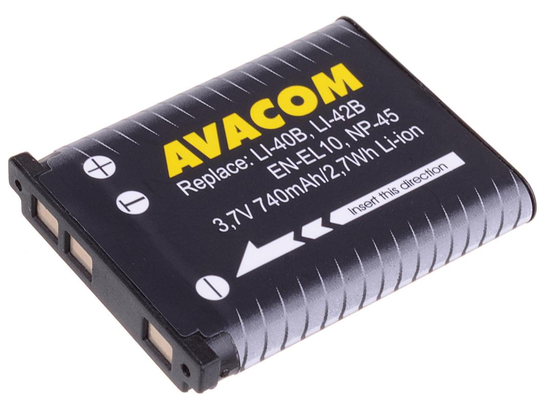 Baterie AVACOM Olympus Li-40B,  Li-ion 3.7V 740mAh