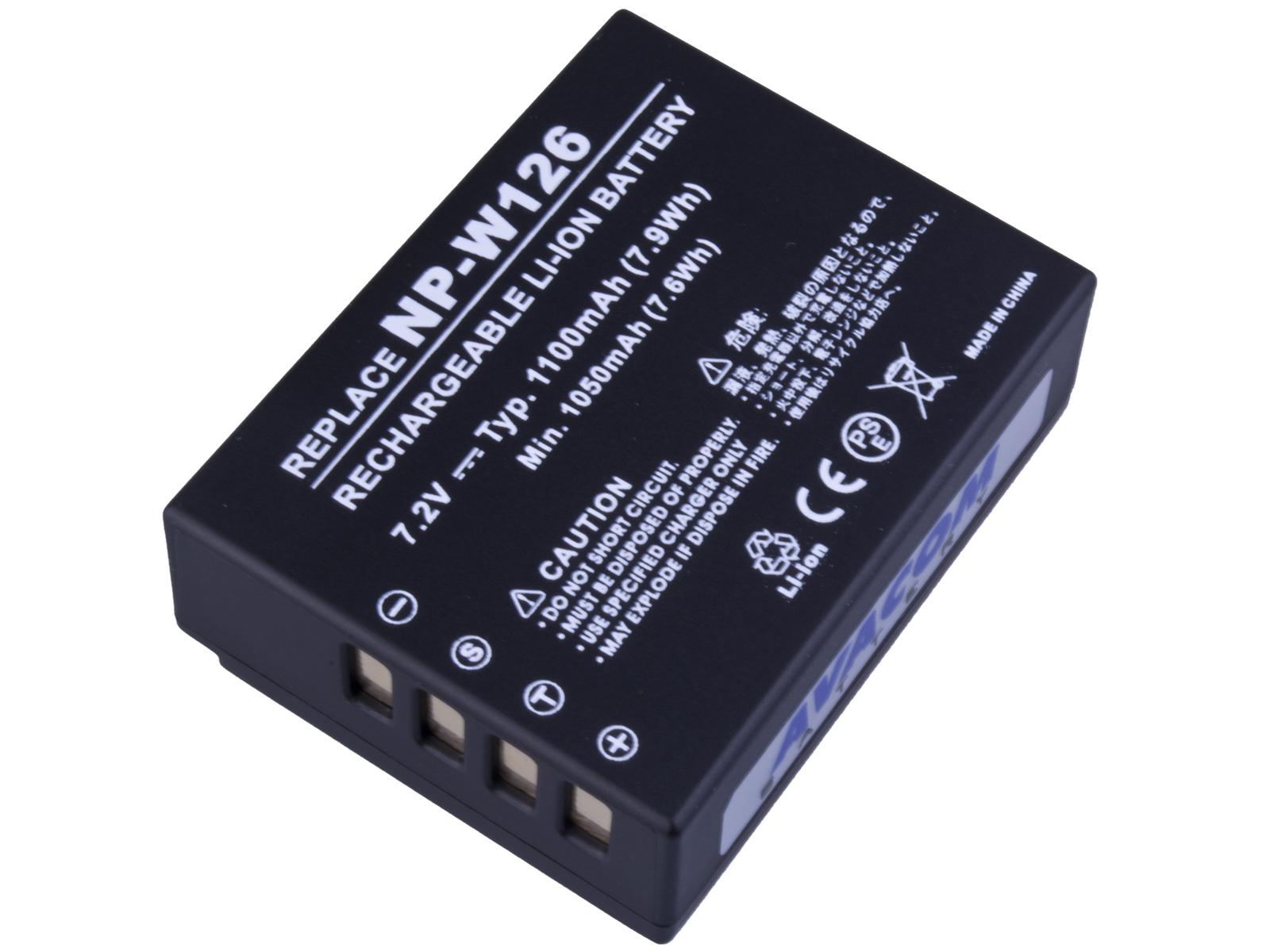 Baterie AVACOM Fujifilm NP-W126 Li-Ion 7.2V 1100mA