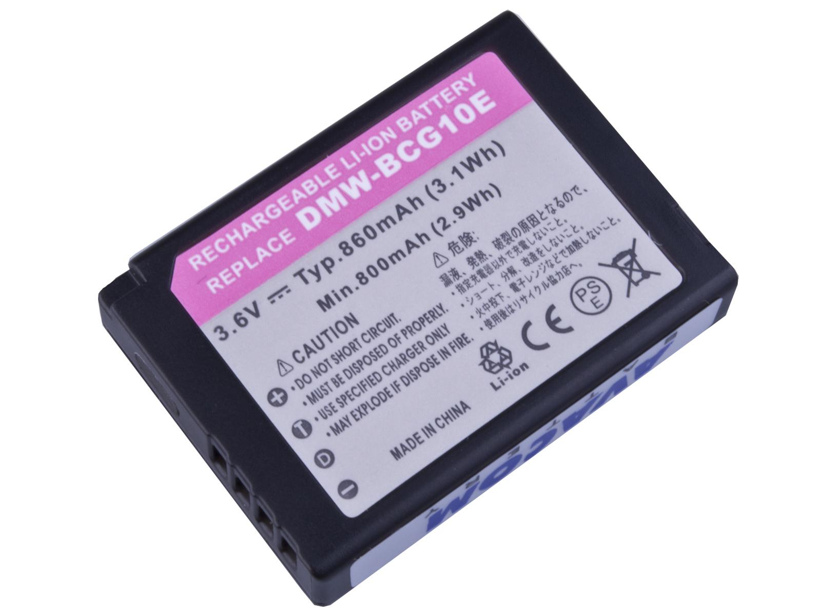 Baterie AVACOM Panasonic DMW-BCG10 Li-ion 3.6V 860
