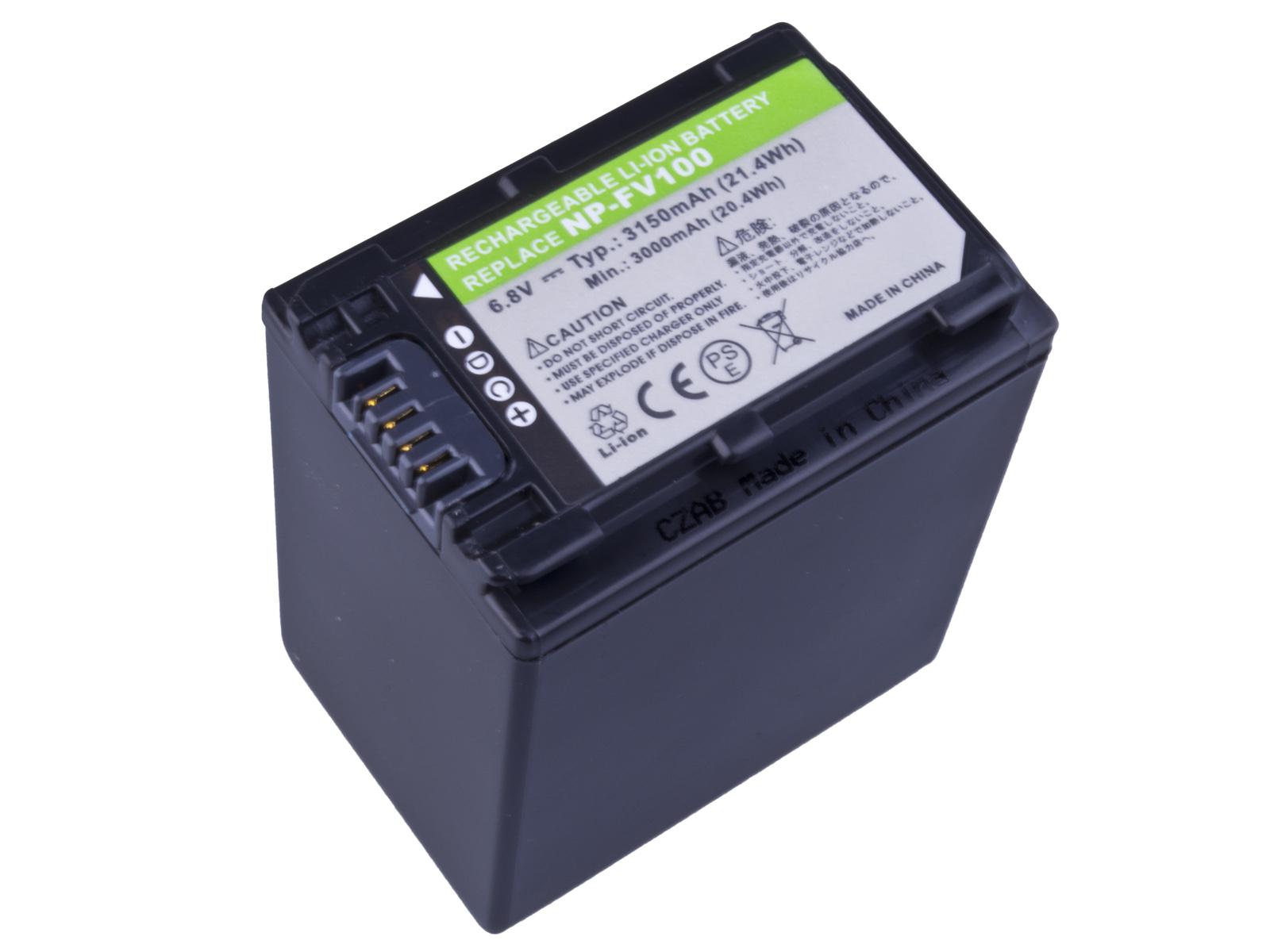 Baterie AVACOM Sony NP-FV100 Li-ion 6.8V 3150mAh