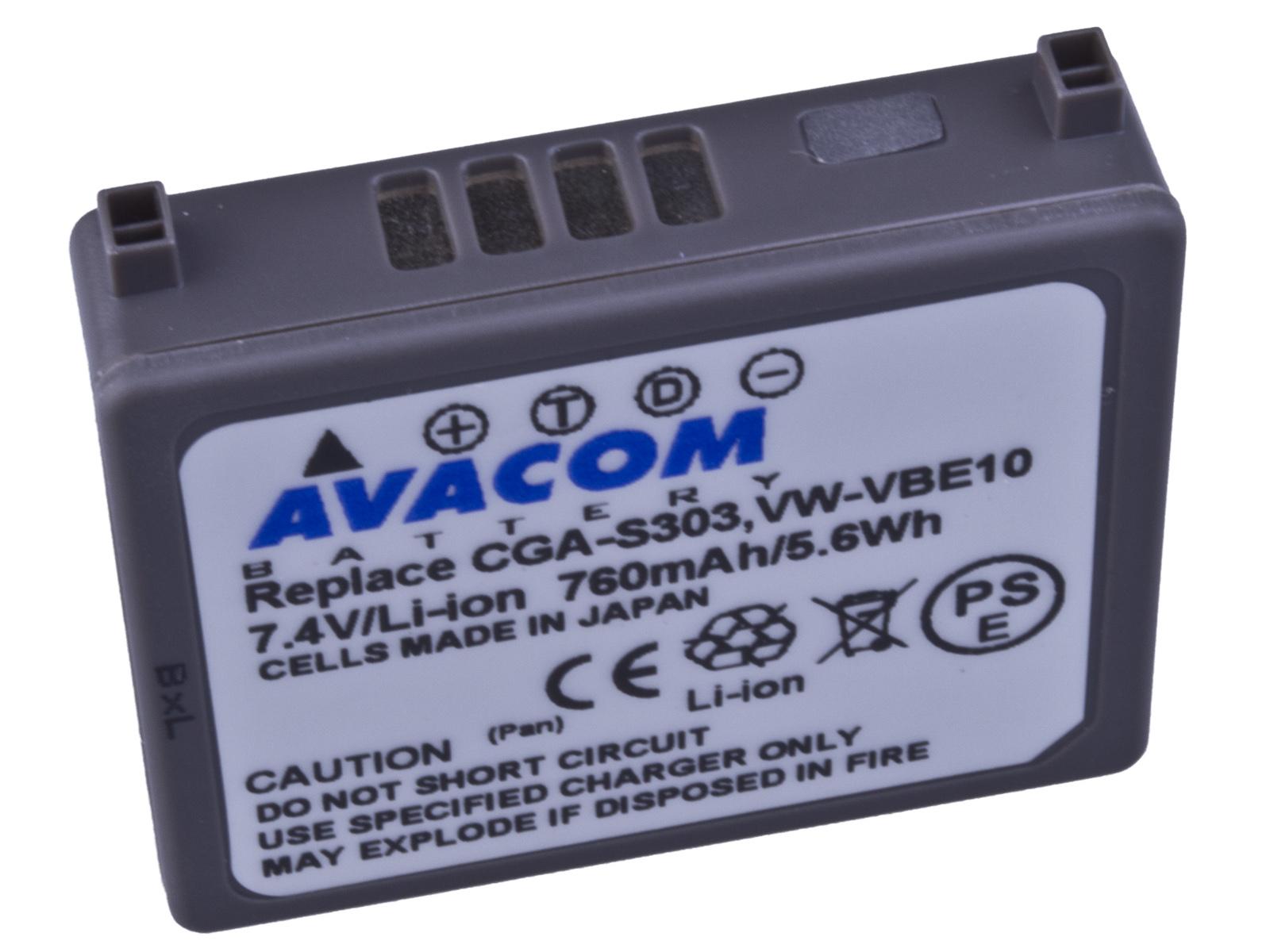 Baterie AVACOM Panasonic CGA-S303  Li-ion 7.4V 760