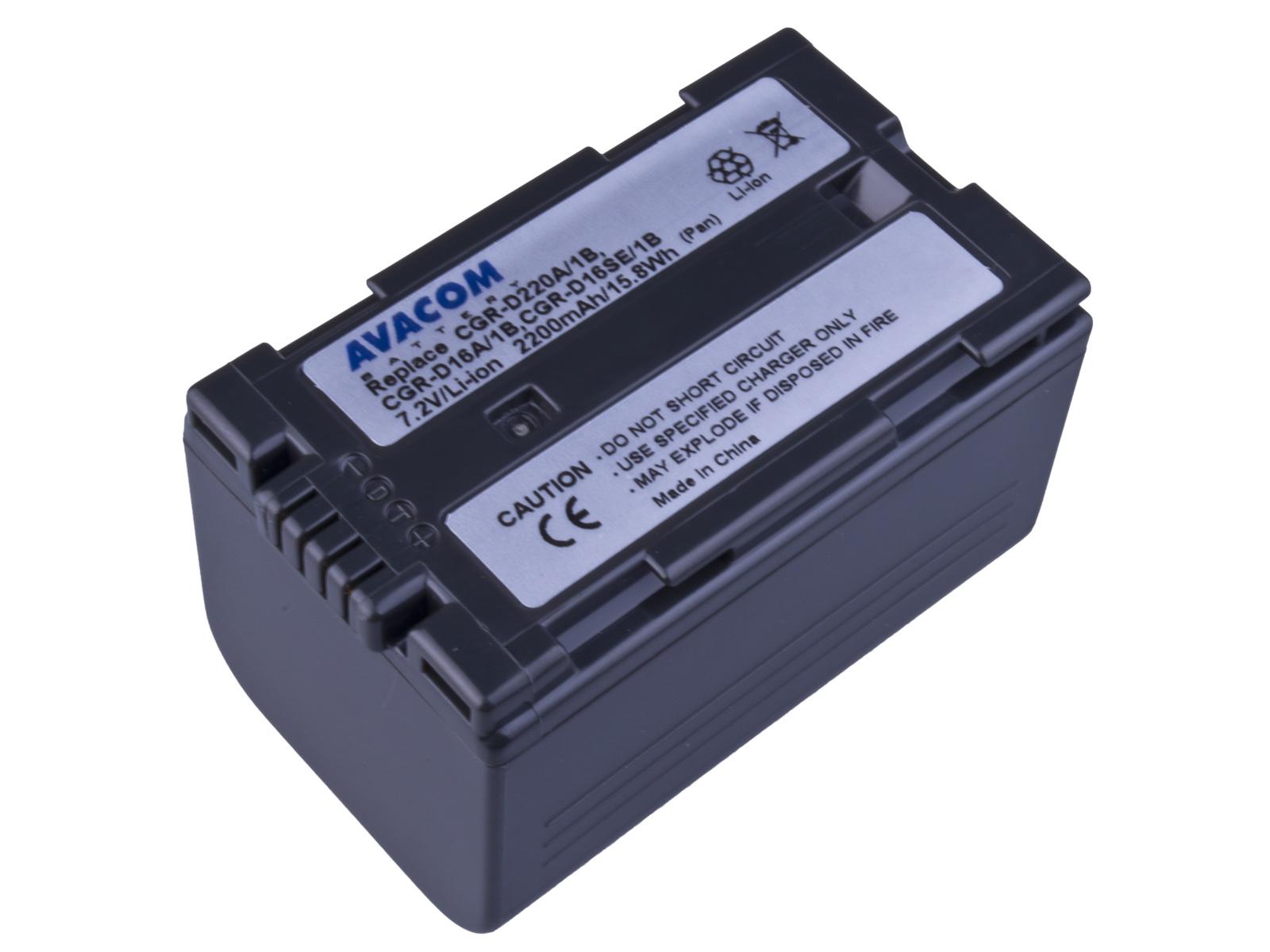 Baterie AVACOM Panasonic CGR-D220  Li-ion 7.2V 220