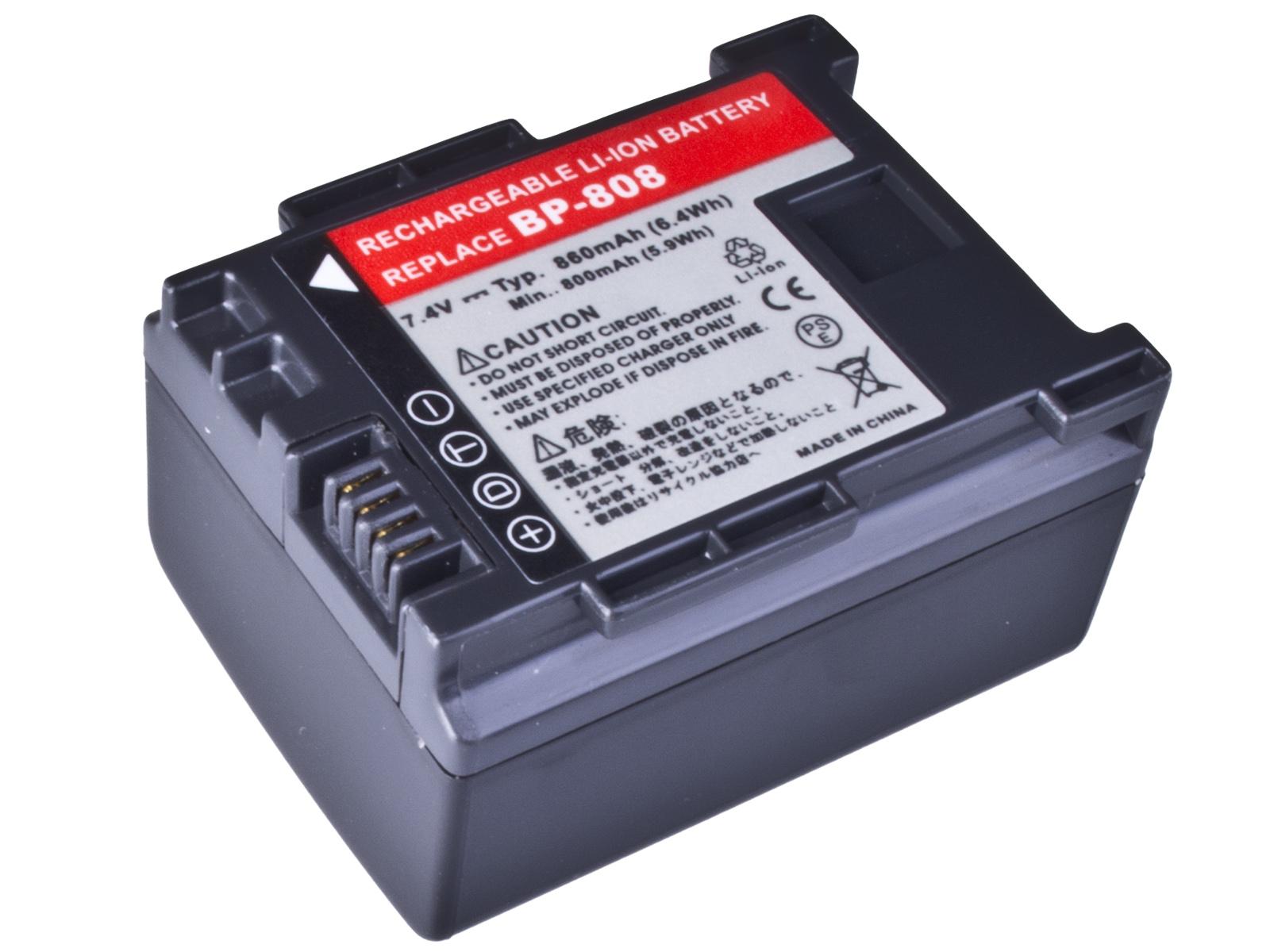 Baterie AVACOM Canon BP-808 Li-Ion 7.4V 860mAh