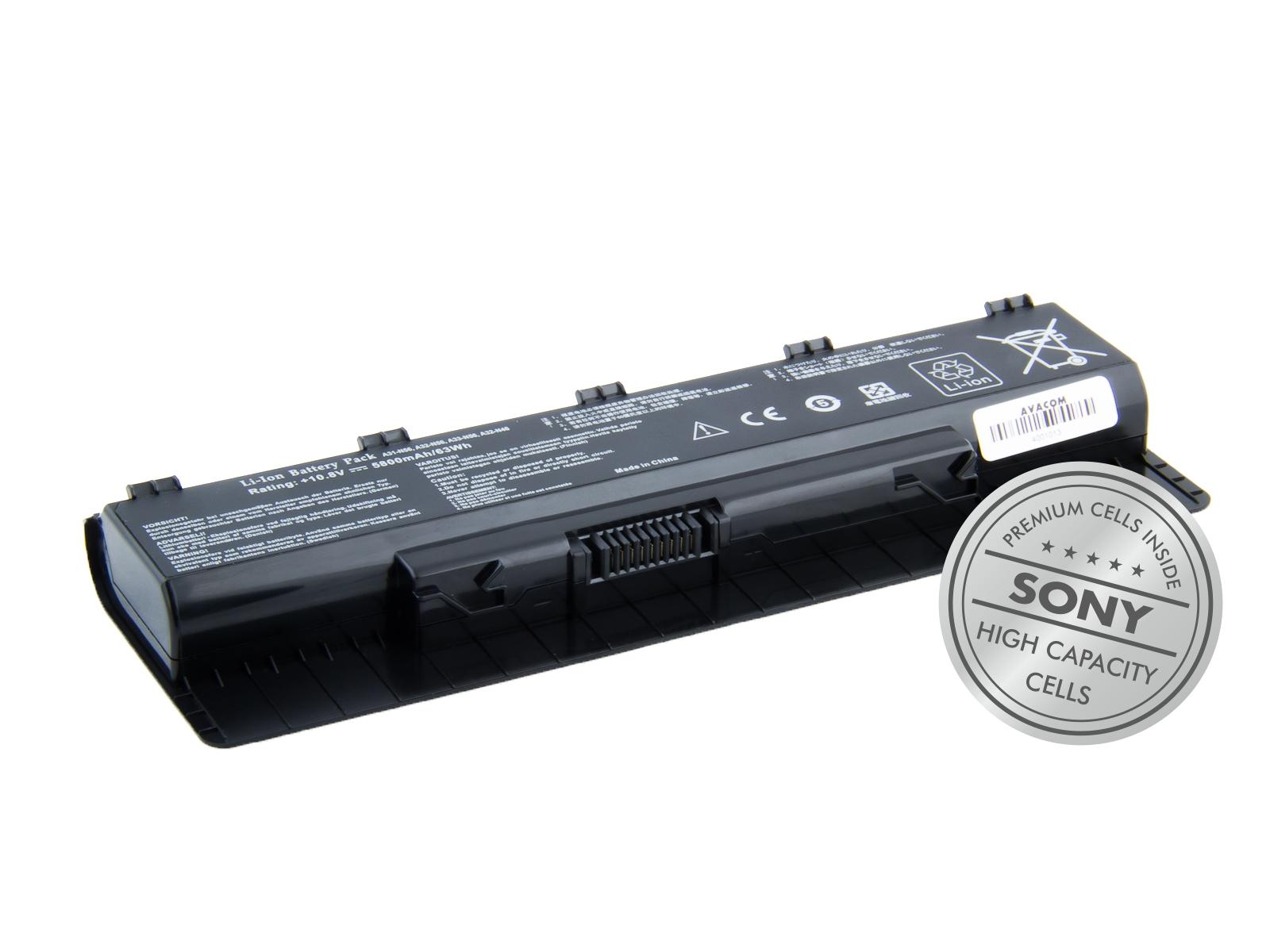 Baterie AVACOM NOAS-N56-S29 pro Asus N46, N56, N76 series A32-N56 Li-Ion 10,8V 5800mAh/63Wh black