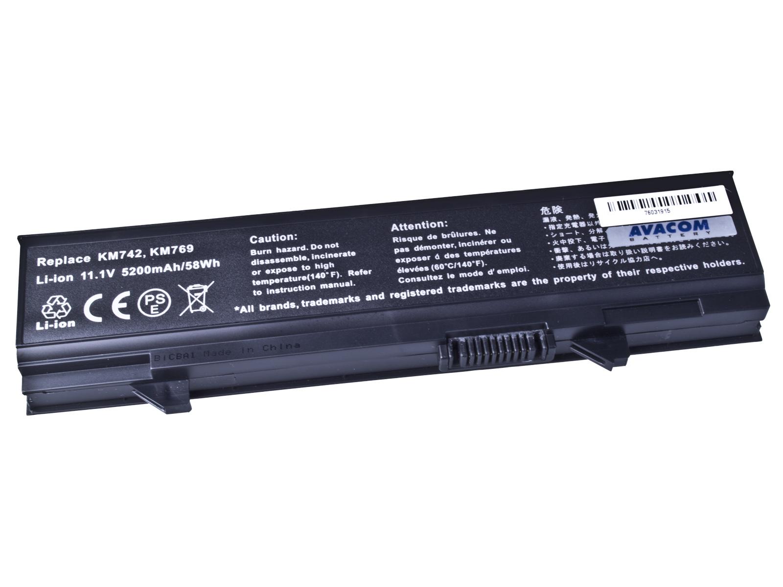 Baterie AVACOM NODE-E55N-806 pro Dell Latitude E5500, E5400 Li-Ion 11,1V 5200mAh / 58Wh