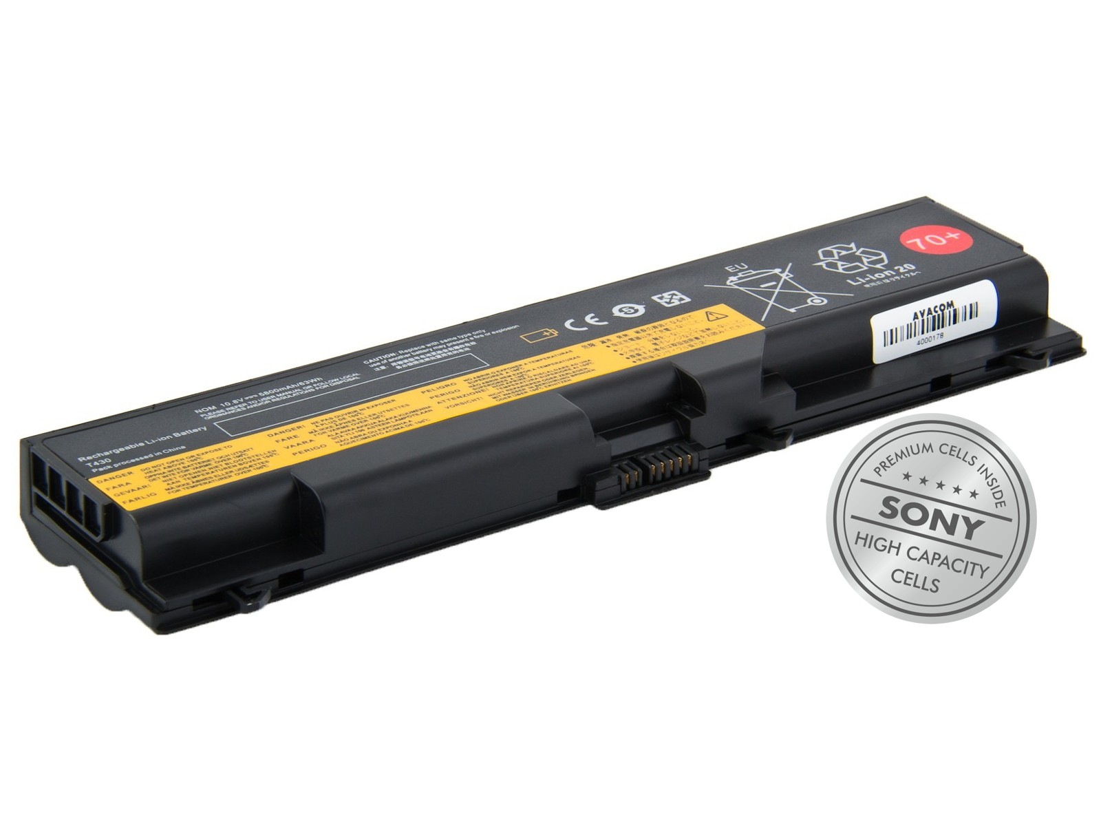 Baterie AVACOM NOLE-T430-S29 pro Lenovo ThinkPad T430 Li-Ion 10,8V 5800mAh/63Wh