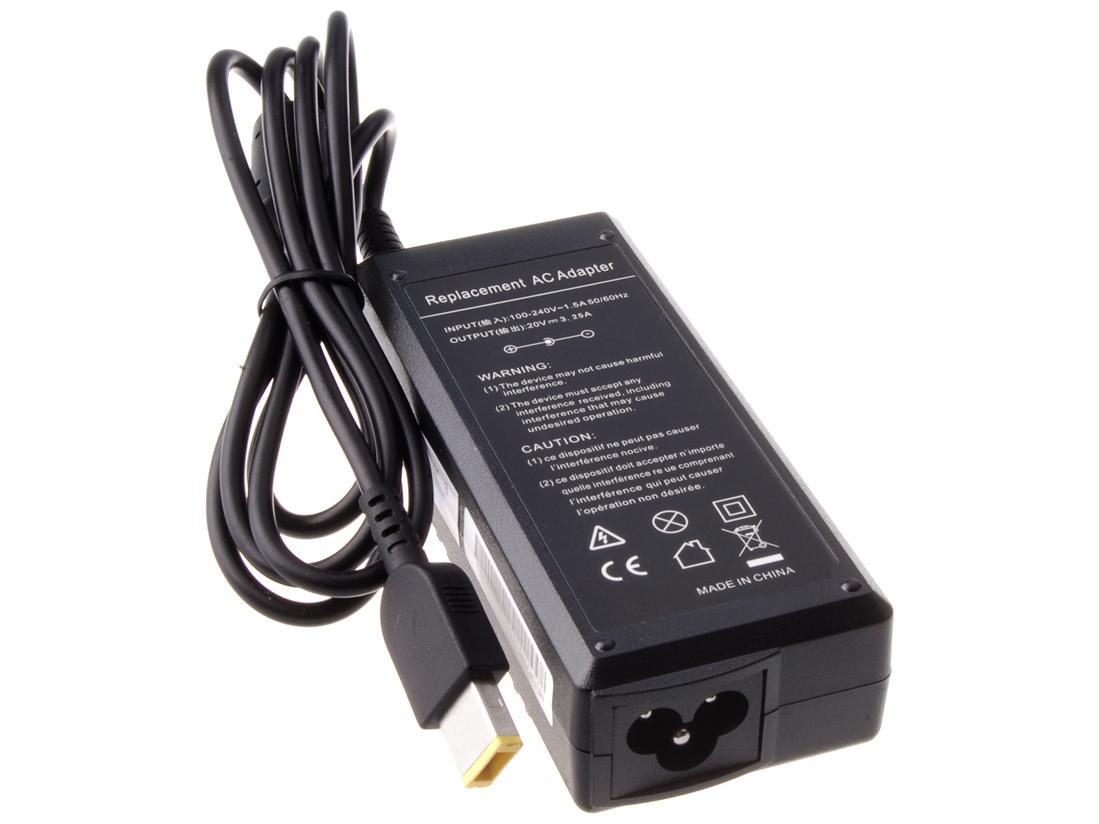 Nabíjecí adaptér AVACOM ADAC-Leno-65WSY pro notebook IBM/Lenovo 20V 3,25A 65W hranatý konektor