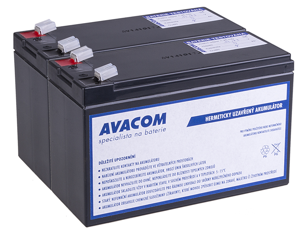 Bateriový kit AVACOM AVA-RBC124-KIT náhrada pro renovaci RBC124 (2ks baterií)
