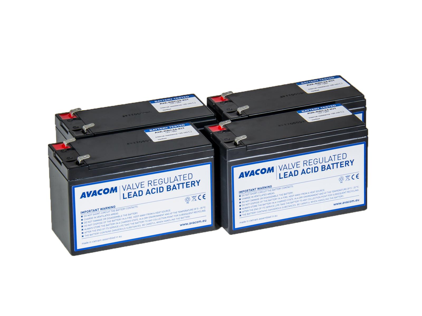 Bateriový kit AVACOM AVA-RBC24-KIT náhrada pro renovaci RBC24 (4ks baterií) - AVA-RBC24-KIT