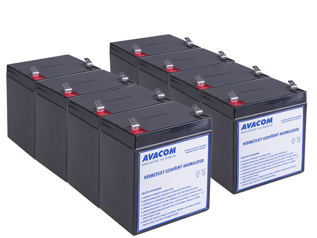 Bateriový kit AVACOM AVA-RBC43-KIT náhrada pro renovaci RBC43 (8ks baterií) - AVA-RBC43-KIT