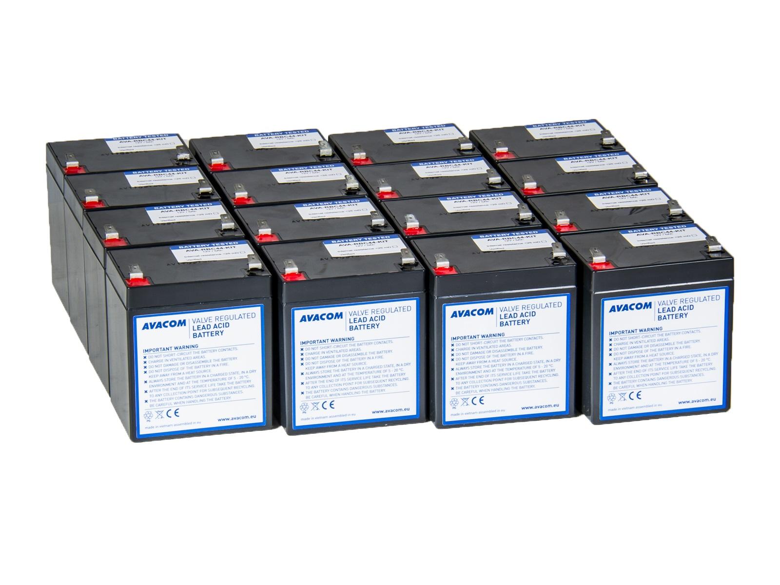 Bateriový kit AVACOM AVA-RBC44-KIT náhrada pro renovaci RBC44 (16ks baterií) - AVA-RBC44-KIT