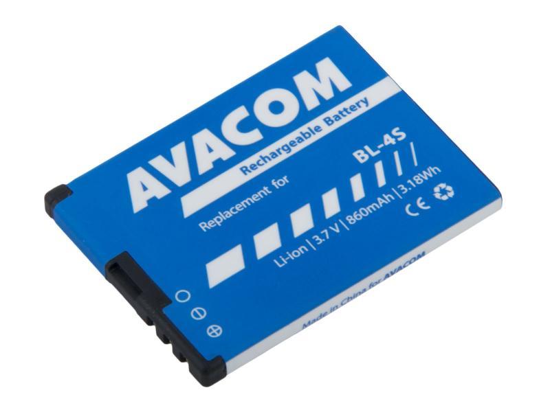 Baterie AVACOM GSNO-BL4S-S860 do mobilu Nokia 3600 Slide, 2680 Li-Ion 3,7V 860mAh (náhrada BL-4S)