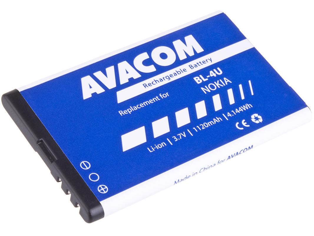 Baterie AVACOM GSNO-BL4U-S1120A do mobilu Nokia 5530, E66, 5530, E75, 5730, Li-Ion 3,7V 1120mAh