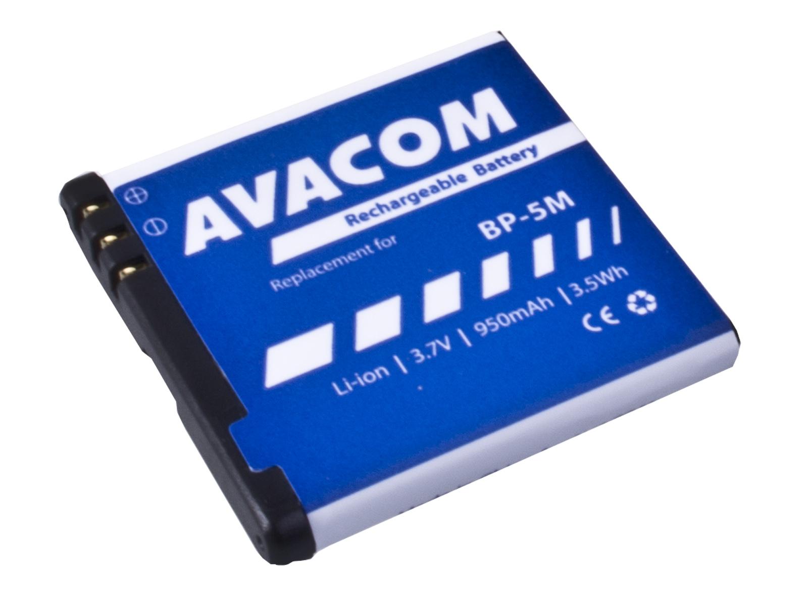 Baterie AVACOM GSNO-BP5M-S950A do mobilu Nokia N81, 6500 Slide Li-Ion 3,7V 950mAh (náhrada BP-5M)
