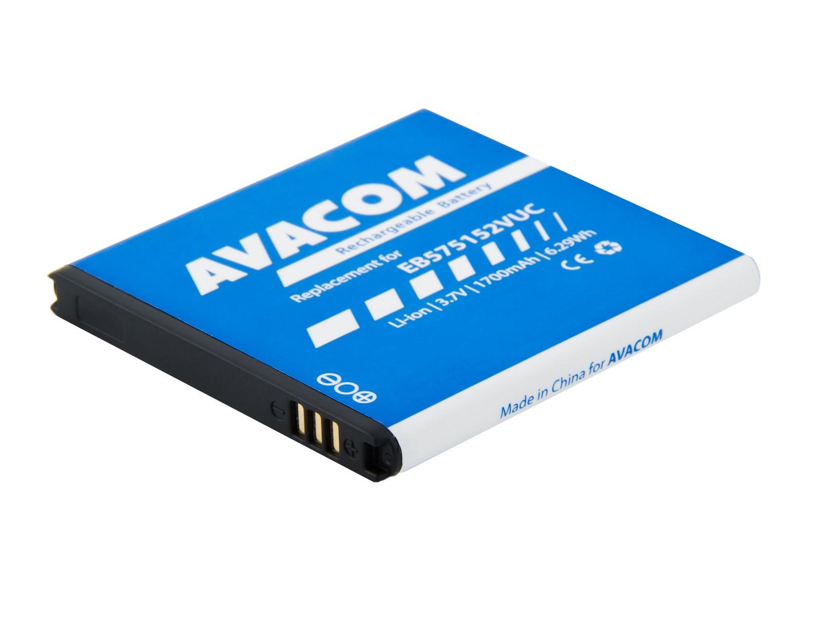 Baterie AVACOM GSSA-i9000-S1700A do mobilu Samsung S I9000 Galaxy S Li-Ion 3,7V 1700mAh - GSSA-i9000-S1700A