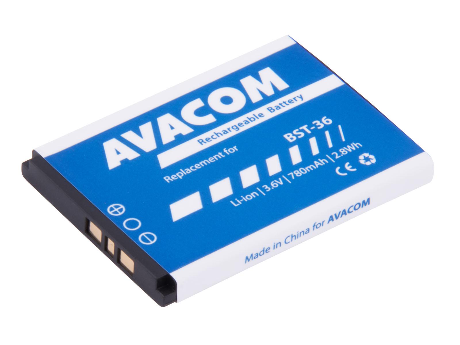 Baterie AVACOM GSSE-J300-S780 do mobilu Sony Ericsson J300, W200 Li-Ion 3,7V 780mAh