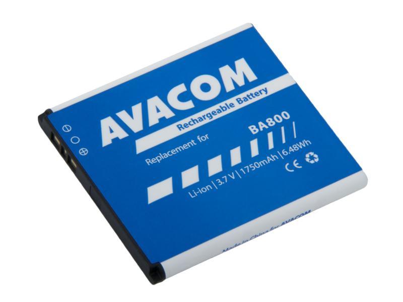 Baterie AVACOM GSSO-BA800-S1750 do mobilu Sony Ericsson Li-Ion 3,7V 1750mAh (náhrada BA800)