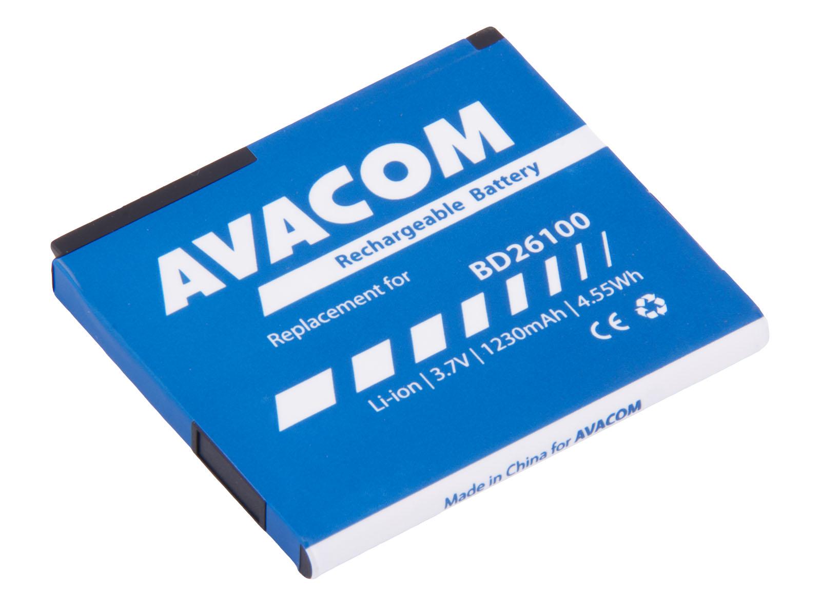 Baterie AVACOM PDHT-ACE-S1230 do mobilu HTC Desire HD, HTC Ace Li-Ion 3,6V 1230mAh