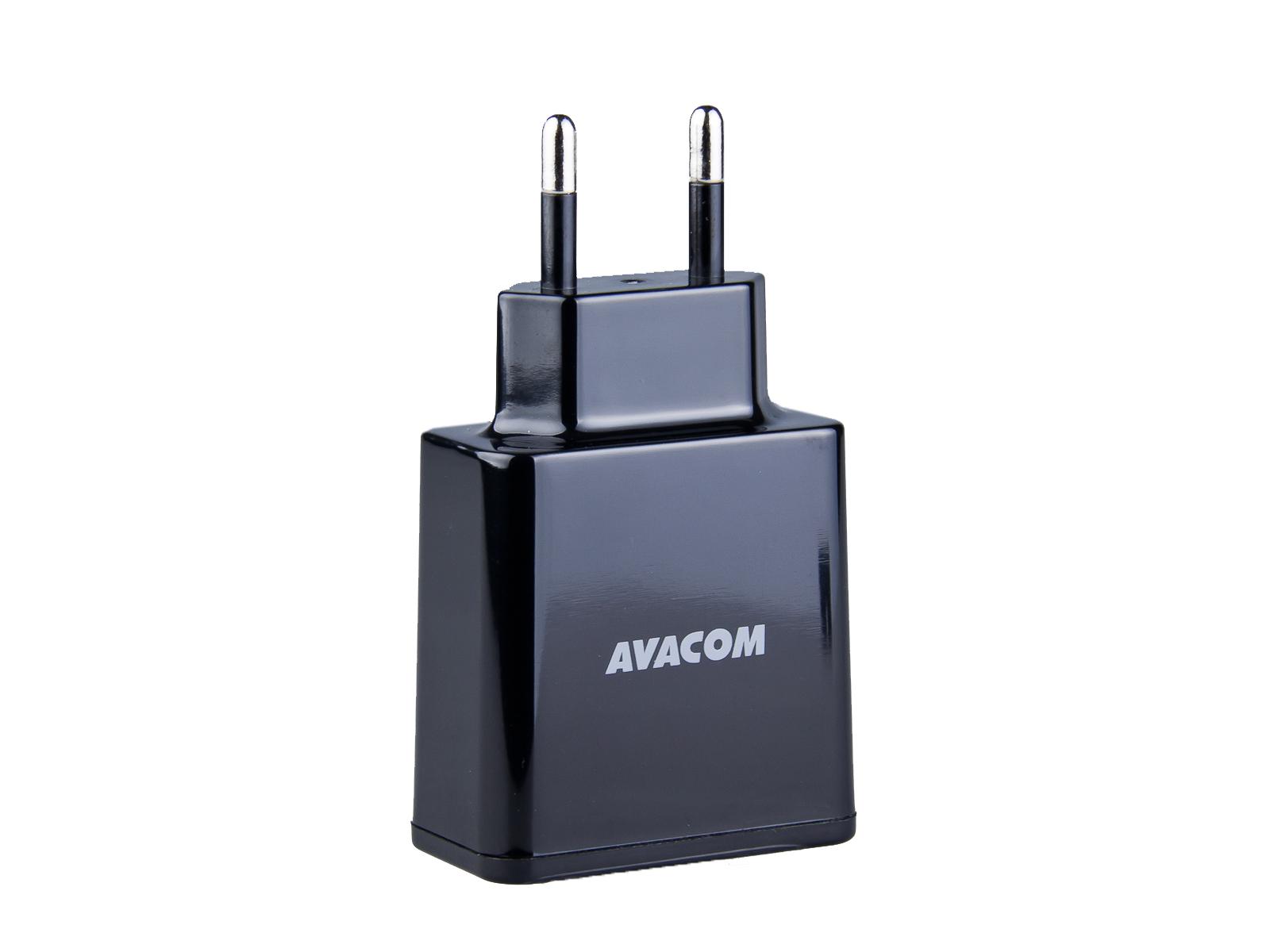 Síťová nabíječka AVACOM NASN-2XKK-34A 3,4A s dvěma výstupy, černá barva