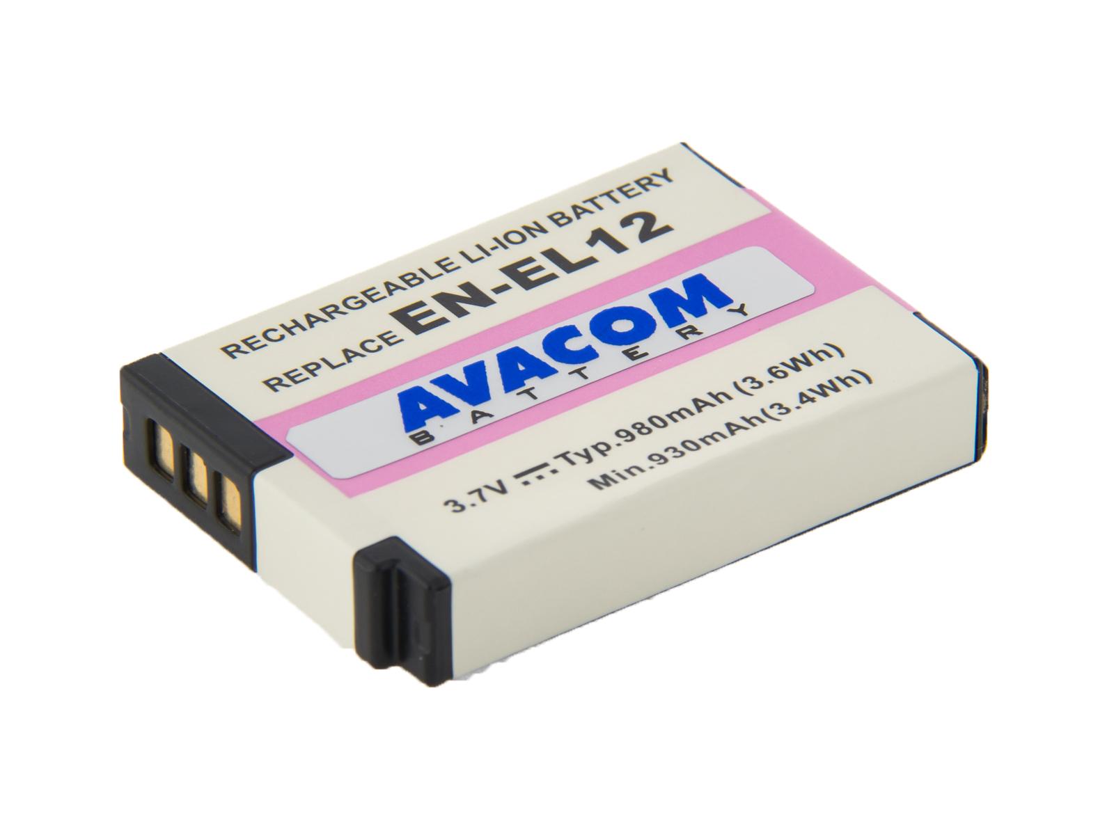 Baterie AVACOM Nikon EN-EL12  Li-Ion 3.7V 980mAh - DINI-EL12-734