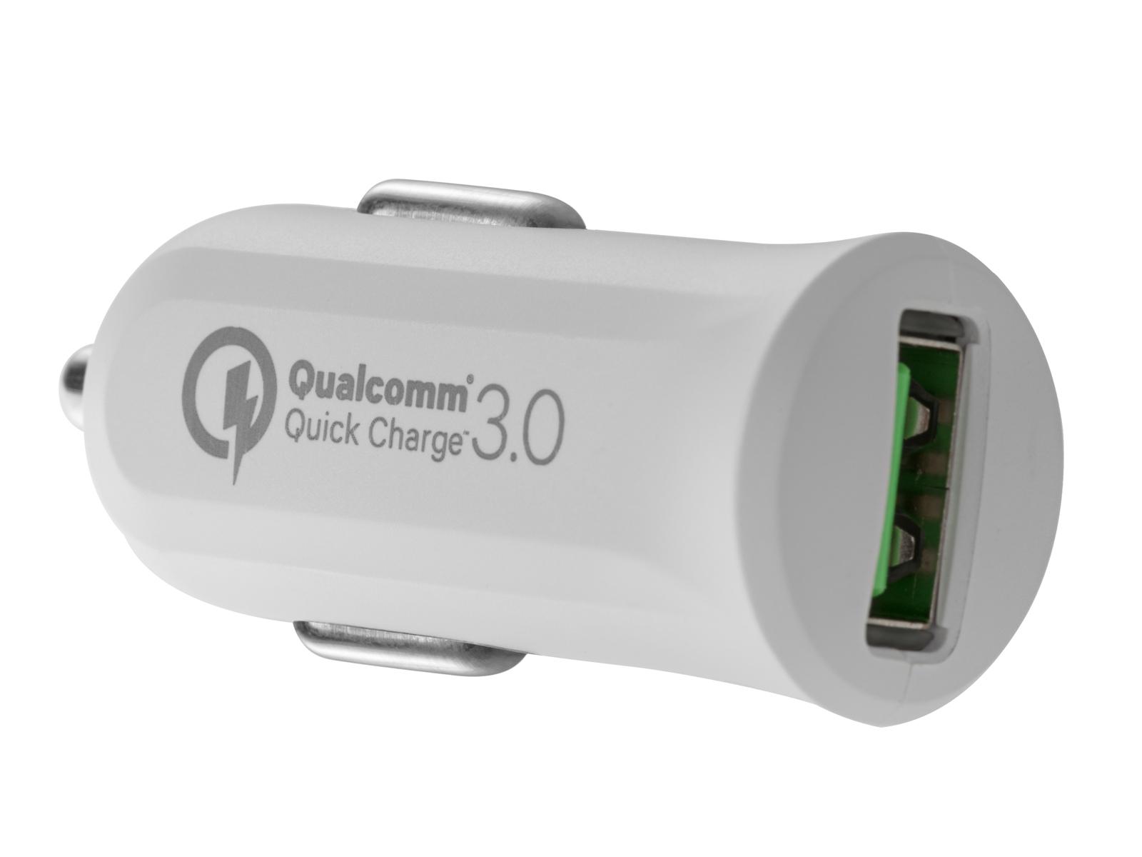 AVACOM CarMAX nabíječka do auta s Qualcomm Quick Charge 3.0, bílá