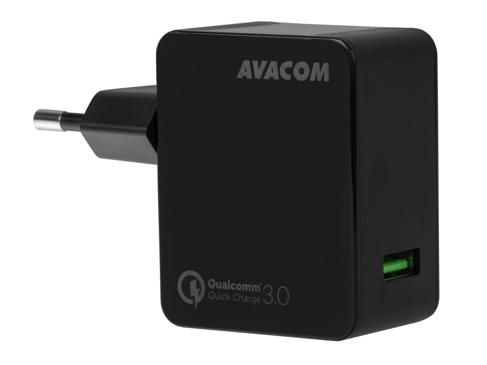 AVACOM HomeMAX síťová nabíječka Qualcomm Quick Charge 3.0, černá