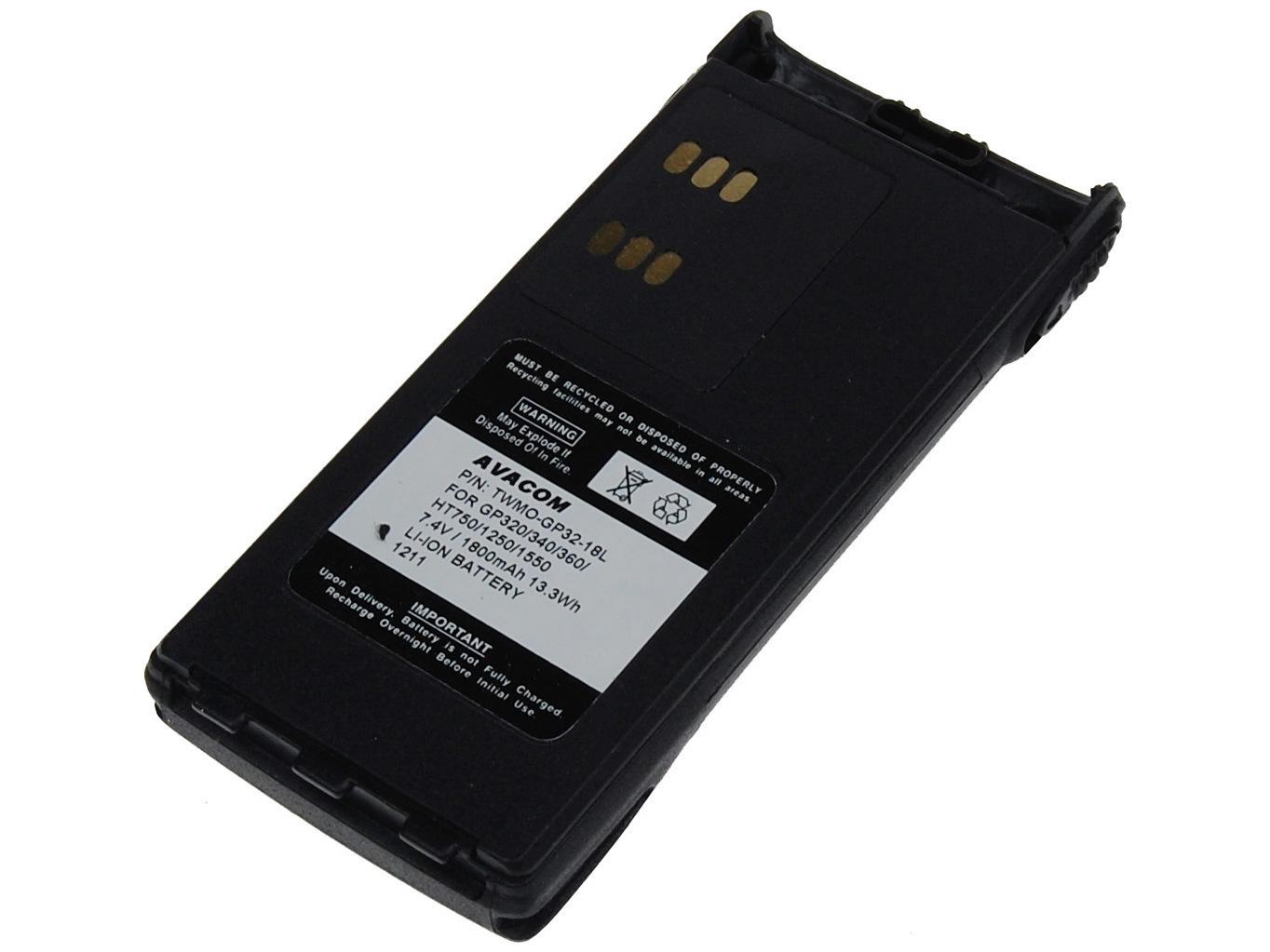 Baterie AVACOM Motorola GP320/340/360, HT750/1250 - WARIS Li-Ion 7.4V 1800mAh