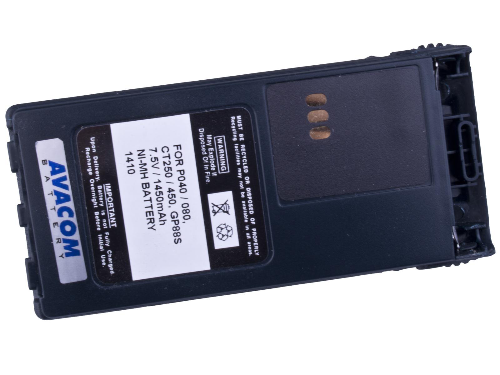 Baterie AVACOM Motorola P040, P060 Ni-MH 7,5V 1450mAh