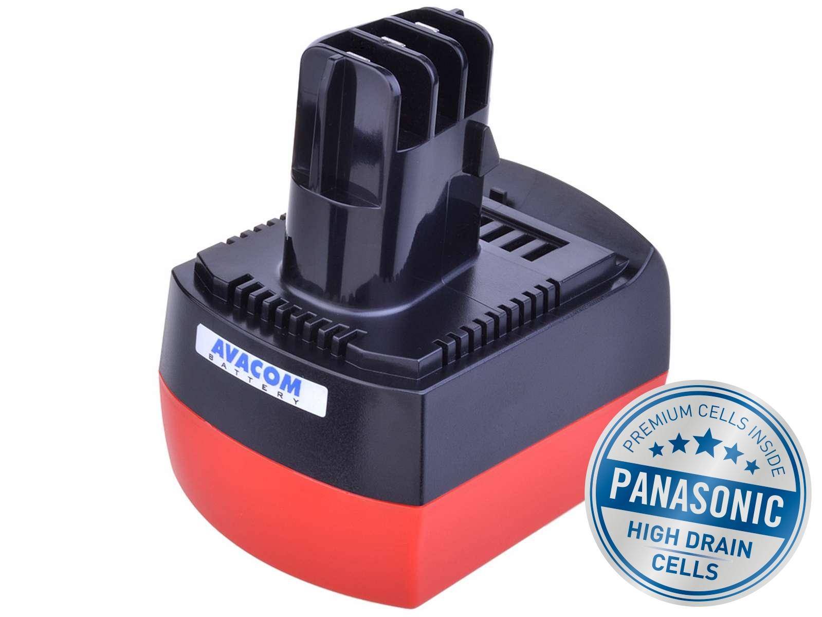 Baterie AVACOM METABO BSZ 6.25473 Ni-MH 12V 3000mAh, články PANASONIC - ATME-12Mh-30H